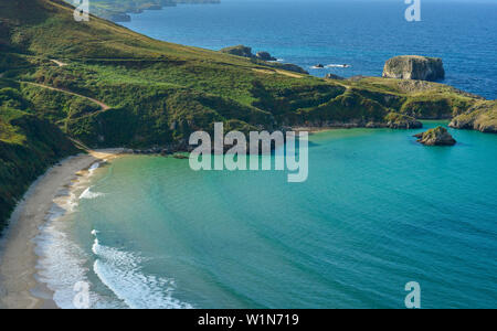 Torimbia Strand, Lena, Barro, Golf von Biskaya, Biscaya, Costa Verde, Asturien, Spanien, Europa - Stockfoto