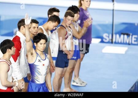 Kazuma Kaya von Japan während der 30 Sommer Universiade 2019 Napoli Men's Stock Übung an Palavesuvio, Napoli, Italien am 7. Juli 2019. Quelle: LBA SPORT/Alamy leben Nachrichten - Stockfoto