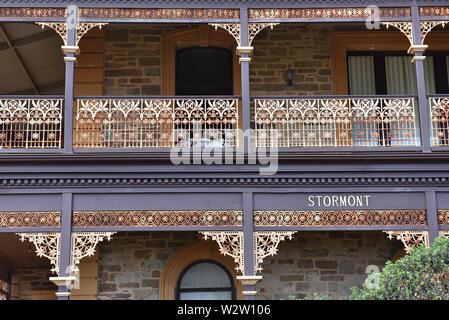Berühmte historische Stormont Haus, Glenelg, Australien - Stockfoto