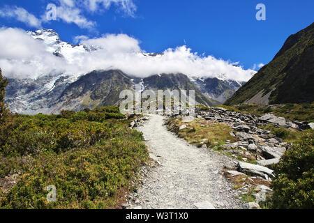 Nationalpark Mount Cook, Neuseeland - Stockfoto
