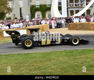 Emerson Fittipaldi Lotus Cosworth 72 E, Goodwood Festival der Speed, Speed Kings, Astro-rekorde des Motorsports, Festival der Geschwindigkeit, 2019, Motorsport, - Stockfoto