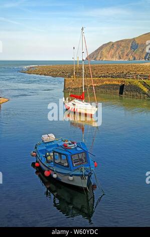 UK, North Devon, Lynmouth Hafen - Stockfoto