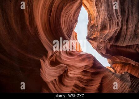 Slot Canyon wie Rattlesnake Canyon bekannt, in der Nähe von Page, Arizona, Vereinigte Staaten von Amerika - Stockfoto