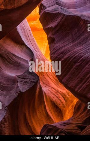 Slot Canyon, Antelope Canyon, Page, Arizona, Vereinigte Staaten von Amerika - Stockfoto