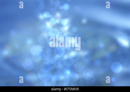 Unterwasserwelt. Abstrakt Blau Beleuchtung bokeh Kreisen aus unterwater Blasen. Schönen blauen Abbildung. - Stockfoto