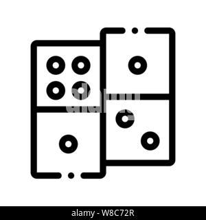 Interaktive Kinder spiel Domino Vektor Zeichen Symbol - Stockfoto