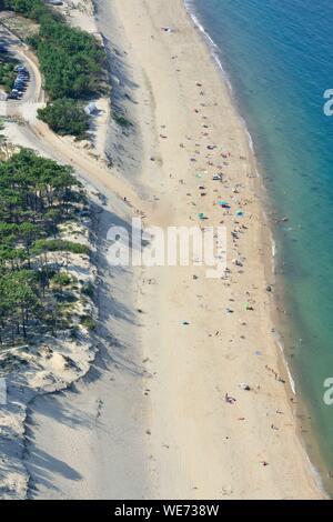 Frankreich, Gironde, Bassin d'Arcachon La Teste de Buch, Dune de Pilat (Luftbild) - Stockfoto