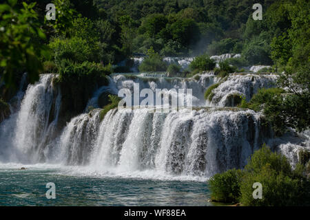 Skradinski buk Wasserfall Nationalpark Krka Kroatien - Stockfoto
