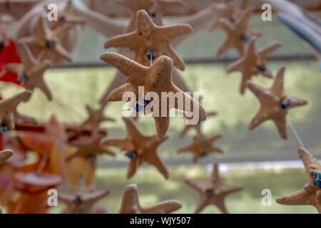 Muscheln handgefertigtes Ornament handgefertigt. Ayvalik wurde auf der Insel Cunda genommen. - Stockfoto