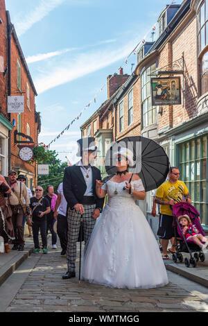 Lincoln, Lincolnshire, England, UK - Der größte Asyl Steampunk Festival auf der Erde befindet sich in der Stadt Lincoln gehalten - Stockfoto