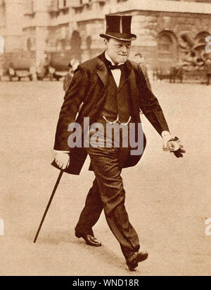 WINSTON CHURCHILL (1874-1965), britischer Staatsmann als Lord der Admiralität 1917 - Stockfoto