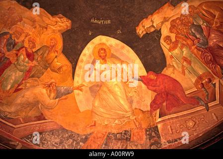 14. Jahrhundert gemalt Wandbild von Jesus Leben an der Decke der KARIYE CAMII Welt s schönsten byzantinischen Kunst - Stockfoto
