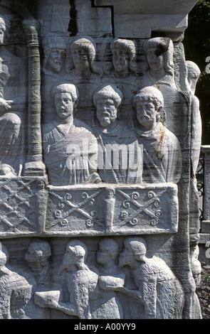 Hellenistik Schnitzereien auf der Basis der OBELISK steht auf dem HIPPODROM byzantinischen Sports Center Istanbul - Stockfoto