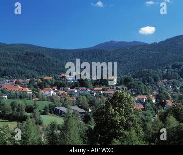 Panoramablick Bergige Landschaft Bewaldete Landschaft Stadt