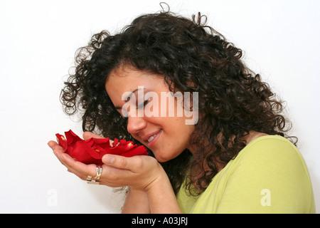 Duftende Rosenblüten - Stockfoto