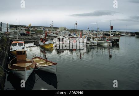 Hafen von Husavik Northern Island - Stockfoto
