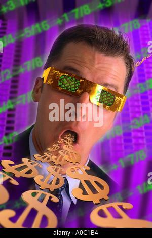 Funky Geschäftsmann mit Geld - Stockfoto