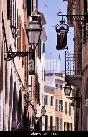 Gassen von Ciutadella eine Zeit Hauptstadt von Menorca - Stockfoto