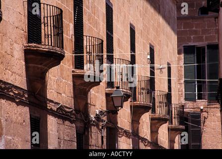 alten katalanischen Architektur in Ciutadella eine Zeit Hauptstadt von Menorca - Stockfoto