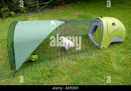 Omlet Huhnerstall Auf Rasen Im Garten Des Hauses Uk Gb Eu Stockfoto