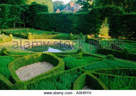 Cranbourne Manor Dorset The Green Garden Buchsbaum Knoten Garten und ...