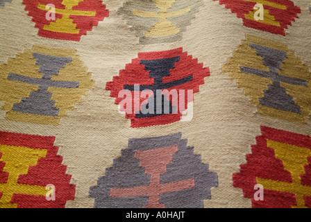 Kelim Teppich Rot Gelb Grun Rosa Textur Haufen Moderner Teppich