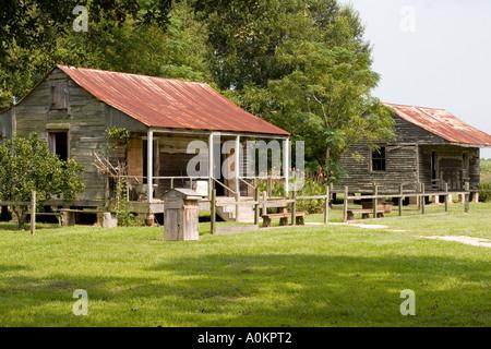 Slave-Viertel an der Vacherie Laura Plantation-Louisiana - Stockfoto