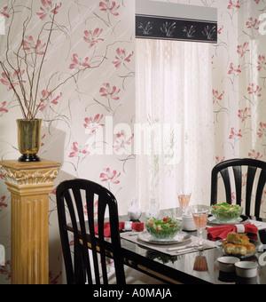 Uberlegen ... Zimmer, Das Innen Tapete Speisesaal Sitzen Küche Ecke Esstisch Für Zwei  Essen Set Trinkt Vorhänge