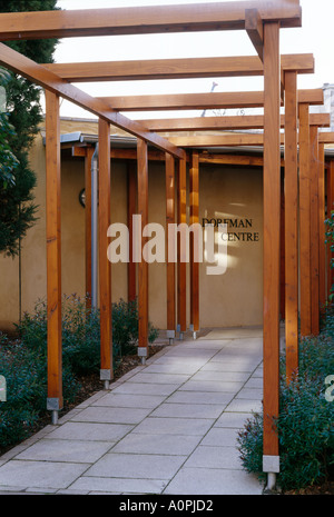 Dorfman Zentrum, St Peter es College, Oxford, 2003. Pergola. Architekt: Lee Fitzgerald Architekten - Stockfoto