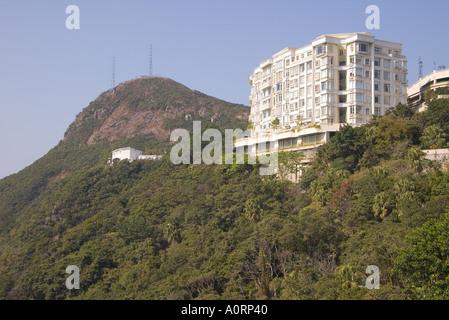 flach-Appartementhaus dh Mount Austin Rd VICTORIA PEAK HONG KONG Mount Austin Road - Stockfoto