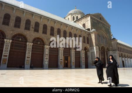 Pilger am Umayyad Moschee UNESCO World Heritage Site Damaskus-Syrien-Nahost - Stockfoto