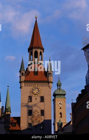 Altes Rathaus altes Rathaus und Heiliggeistkirche München Bayern Deutschland Europa - Stockfoto