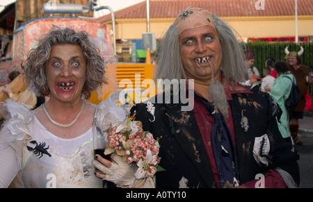 Paar in Kostüm an Karneval Gran Canaria in maspalomas - Stockfoto