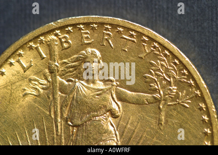 Us Goldmünze 20 Us Dollar Münze Stockfoto Bild 5757189 Alamy