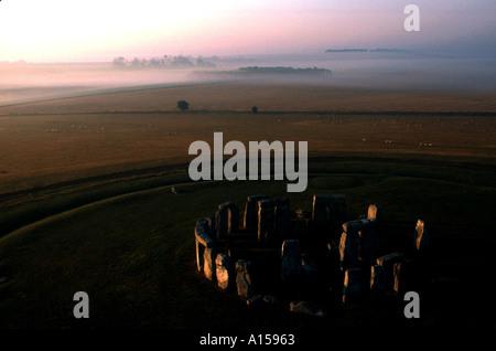 Luftaufnahme von Stonehenge Wiltshire England UK A Woolfitt - Stockfoto