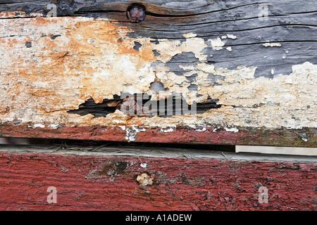 Detail von einem alten Fischerboot, Irland - Stockfoto