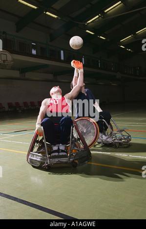 Quad Rugby-Spieler - Stockfoto