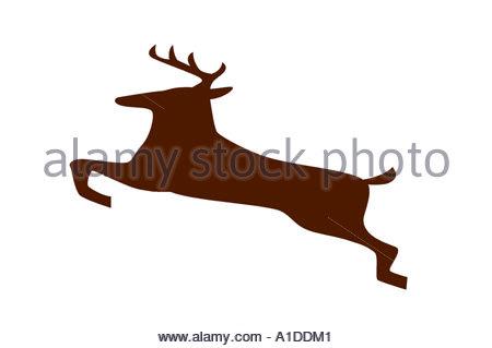 Eine Darstellung der Hirsche - Stockfoto
