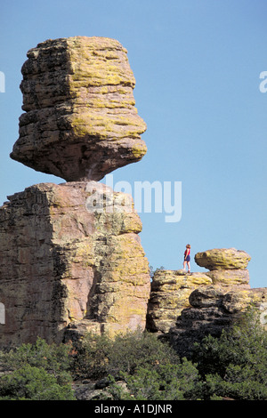 Elk225 7214 Arizona Chiricahua NM inmitten der Felsen-Landschaft - Stockfoto