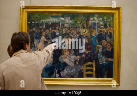 Moulin De La Gallette von Pierre Auguste Renoir im Musee d Orsay Paris Frankreich Europa - Stockfoto