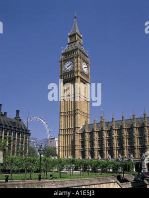 Big Ben und die Houses of Parliament in London, England - Stockfoto
