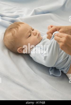 Baby gekleidet - Stockfoto