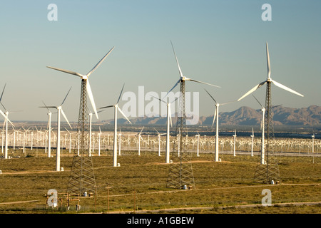 Windpark, angetriebene Windgeneratoren, California - Stockfoto