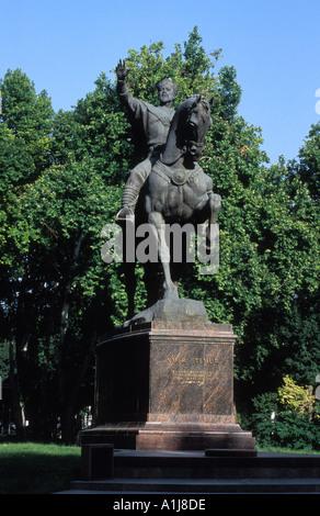 Statue von Amir Temur in Amir Timur Gärten Taschkent Usbekistan - Stockfoto
