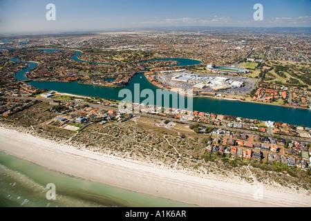 Tennyson und West Seen Adelaide South Australia Australien Antenne - Stockfoto