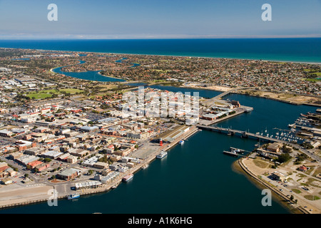 Historischen Port Adelaide Adelaide South Australia Australien Antenne - Stockfoto