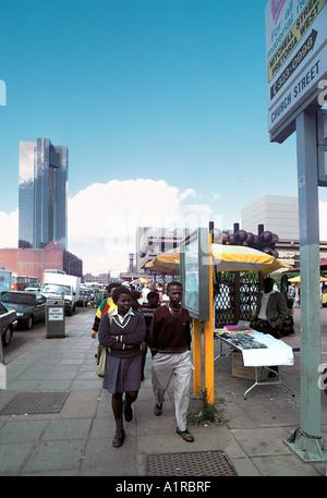 Church Street Pretoria Südafrika die längste Straße in Südafrika - Stockfoto