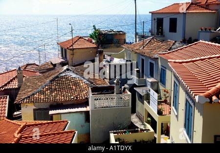 Fischerdorf Camara de Lobos Insel Madeira Portugal - Stockfoto