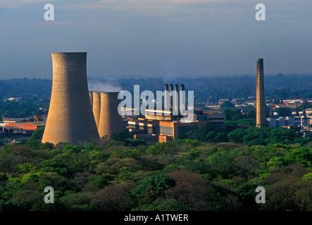 Kraftwerk, Kraftwerke, Energie, Innenstadt, Stadt der Provinz Harare Harare, Simbabwe - Stockfoto