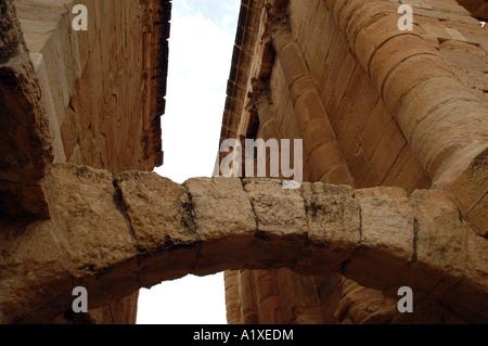 Das große Forum in der römischen Antike Sufetula, heute bekannt als Sbeitla, Tunesien - Stockfoto